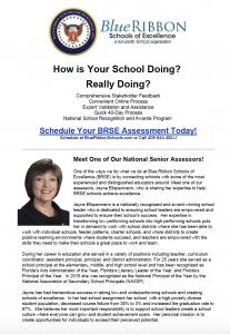 Blue Ribbons Schools of Excellence - September Newsletter